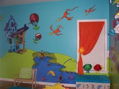 Lorax mural. I'd like to paint the birds & parachuting fish on the walls.