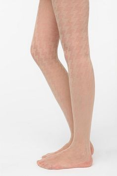 i've been seeing a lot of patterned nude tights in the city - need these!