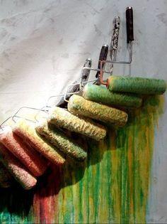 paint roller display
