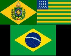 As Bandeiras do Brasil ao longo do tempo - Feira Cultural - 2014