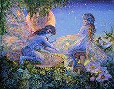 Mending By Magic Josephine Wall Art painting fairytale fairy fairies magic wand Josephine Wall, Fantasy Kunst, Fantasy Art, Enchanted Fairies, Kobold, Fairy Coloring, Coloring Book, Fantasy Paintings, Fairy Paintings