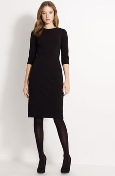 My everyday-outfit for lounging around at home - a black jersey dress and black tights / Lida Baday Knit Dress in Black