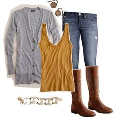 perfect fall outfit. simple. and im diggin the yellow.