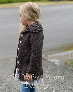 Ravelry: Waltyn Sweater pattern by Heidi May Knitting For Kids, Crochet For Kids, Baby Knitting, Knit Crochet, Velvet Acorn, Sweater Knitting Patterns, Knit Patterns, Heidi May, Girls Sweaters