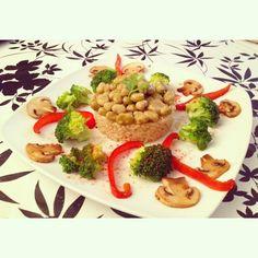 broccoli with rice by Opcion Vegana