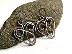 A personal favorite from my Etsy shop https://www.etsy.com/listing/523156489/copper-celtic-heart-earrings