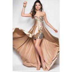 Robe De Cérémonie Brillant robe de soirée bustier champagne