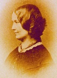 Charlotte Bronte in the only known photograph of her, taken in 1854, aged 38.