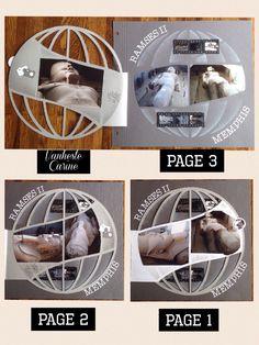 #Scrapbooking #Azza #Gabarits #Templates #Sjablonen #Autour du monde #Vanheste Carine