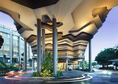 eingangsbereich naturformen parkroyal hotel design in singapur