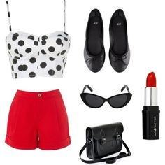"""""""casual pin up style outfit!"""" by brookeplummer on Polyvore"""
