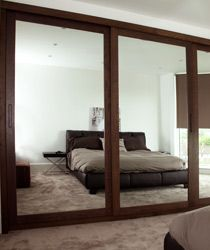 Mirrored doors Fitted #wardrobe