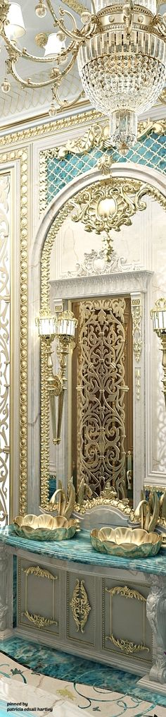 ~ Luxurious Royal Bathroom ~ | Patricia Edsall Hartley | antonovich-design.ae