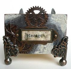 Steampunk Storage - Try It On Tuesday's challenge and a new tutorial