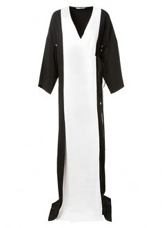 d3c901801b5 ROSETTA GETTY Rosetta Getty Black And White Long Wrap Dress.  rosettagetty   cloth    SergioRossi