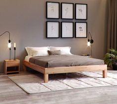 Krok Wood Massivholzbett Jana in Buche x 200 cm) Above Couch, Take A Seat, Floor Cushions, Betta, Family Room, Toddler Bed, New Homes, House Design, Flooring