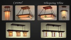 Custom Craftsman light fixtures  Mission