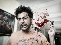 The very disturbing imagery in this ad almost makes it hard to look at, yet that is what makes it so powerful.