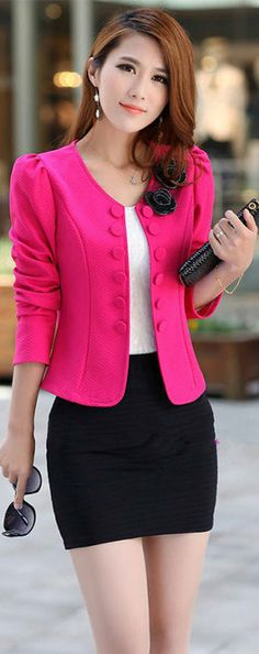 plus size 2015 blazer feminino women casual suit jacket blaser femininos elegant slim blazers female workwear office coats > Nice plus size clothing shop for everybody Blazers For Women, Coats For Women, Jackets For Women, Clothes For Women, Cheap Blazers, Women Blazer, Cheap Suits, Black Blazers, Casual Suit Jacket