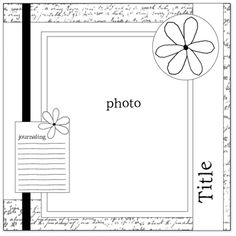 scrapbook layout - could do 2 4x6 photos instead of 8x10