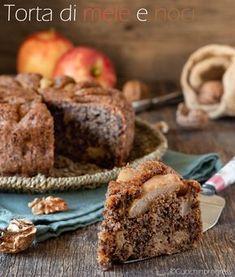 La TORTA DI MELE E NOCI è uno squisito dolce, dall'aspetto rustico e molto goloso, tipico del periodo autunnale, ma che si può preparare tutto l'anno, dato che gli ingredienti sono sempre reperibili. Sweet Recipes, Cake Recipes, Dessert Recipes, Desserts, Torte Cake, Cake & Co, Nutella, Pie Co, Best Apple Pie