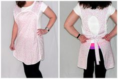 Retro 50s Plus Size SMOCK APRON  Pink Gingham by LauriesGiftsBiz, $40.00