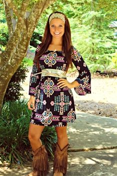 Chain Of Love Tunic Dress $32.99 #SouthernFriedChics