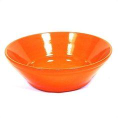 """Piral Terracotta 11"""" V-Shaped Bowl in Orange $35.99"""