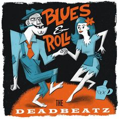 DeadBeatz Blues&Roll Single Blues, Comic Books, Graphics, Illustrations, Comics, Cover, Art, Art Background, Drawing Cartoons