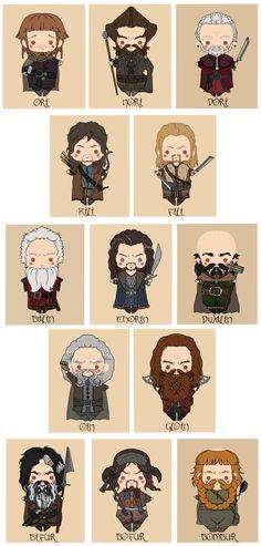 The Hobbit - Thorin Oakenshield's Company by Mibu-no-ookami.deviantart.com
