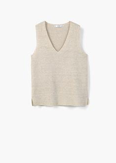 Top malha algodão | MANGO