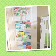 Great way to store your children's books with elfa!