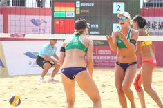 Germany's Karla Borger and Julia Sude won gold at the FIVB in Qinzhou (China). Tokyo 2020, Beach Volleyball, Comebacks, Olympics, Two By Two, Germany, China, Star, American