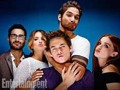 Tyler Hoechlin, Shelley Hennig, Dylan Sprayberry (front), Tyler Posey, and Holland Roden, Teen Wolf. See more stunning star portraits from our photo studio at San Diego Comic-Con 2014 here: http://www.ew.com/ew/gallery/0,,20399642_20837117,00.html