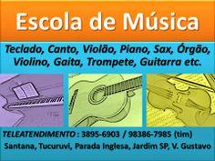 CURSOS PROFISSIONAIS E CULTURAIS: ESCOLA DE MUSICA ZONA NORTE SP METRO