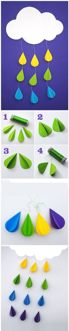 Beautiful Raindrop Craft - make a mobile for that special child