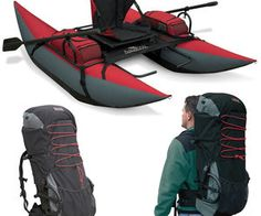 Inflatable Backpack Pontoon Boat