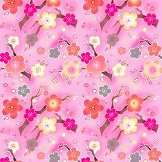 Cherry blossom warm pink - beesocks - Spoonflower