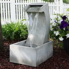 Sunnydaze Modern Arched Waterfall Outdoor Patio and Garden Fountain - Modern Outdoor Fountains, Modern Fountain, Outdoor Waterfall Fountain, Outdoor Waterfalls, Fountain Design, Garden Fountains, Water Fountains, Backyard Water Feature, Pool Landscaping