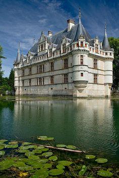 Entrance, Chateau at Azay-le-Rideau. Indre-et-loire, France