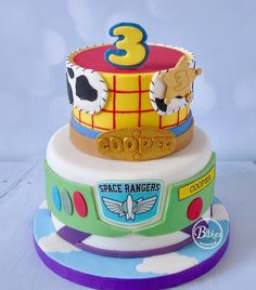 toy story Toy Story cake by - toys Fête Toy Story, Bolo Toy Story, Toy Story Theme, Toy Story Cakes, Toy Story Party, Toy Story Birthday Cake, 4th Birthday Cakes, 4th Birthday Parties, Second Birthday Ideas