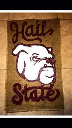 MSU Bulldog Burlap Garden Flag on Etsy, $25.00