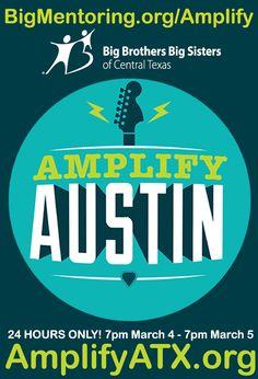 We're proud to be with #AmplifyATX TONIGHT, benefiting Austin-area nonprofits!