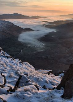 Creeping fog in Dunnerdale Valley, Lake District, England (by M-J Turner).