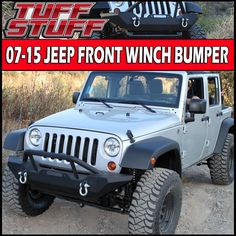 Tuff Stuff™ Winch Mount Front Bumper - 07-16 Jeep Wrangler JK - Tuff Stuff™ Winch Mount Front bumper will fit all Jeep Wrangler JK's from 2007-2016 with ease. The no drill installation makes attaching this bumper quick and easy!