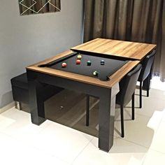 Alexis Dining Pool Table ( Promotion Available!) - CentrumLeisureThe Alexis Dining Pool Table ( Promotion Available! Dining Room Pool Table, A Table, Cheap Basement Remodel, Basement Remodeling, Pool Tables For Sale, Apartment Living, Interior Design, Architecture, Game Room