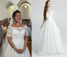 Gina Rodriguez As Jane Lace Wedding Dresses In Tv Dramas Short Sleeves A Line Off Shoulder Sweetheart Illusion Bodice Jane The Virgin Gowns Summer Wedding Dresses Traditional Wedding Dresses From Bestdavid, $140.71| Dhgate.Com