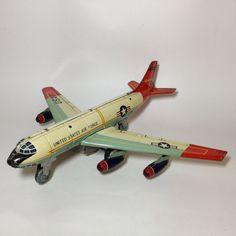 AIRPLANE PLANE USAF AIR FORCE MILITARY NOMURA TIN TOY POLICE JAPAN 60'S RARE T N #Bandai