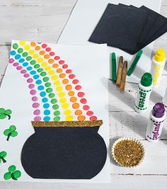 Do-A-Dot Rainbows Creative Activity Creative Activities, Preschool Activities, White Construction Paper, March Themes, March Crafts, Discount School Supply, Do A Dot, Kool Kids, Rainbow Crafts