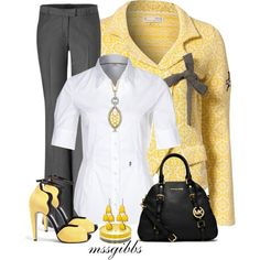 Yellow Jackets, created by mssgibbs on Polyvore